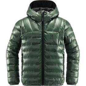 Haglöfs Bivvy Reversible Hood Jacket Kids fjell green/true black
